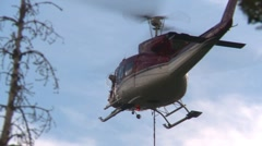 helicopter, Bell 212 hover tight shot - stock footage