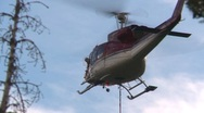Helicopter, Bell 212 hover tight shot Stock Footage
