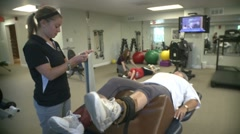 Physical Therapy Session (1) - stock footage