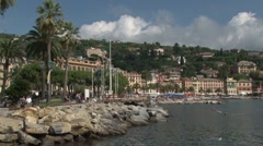 Santa Margherita Seafront, Italy Stock Footage
