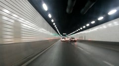 SHANGHAI DRIVING in Tunnel Stock Footage