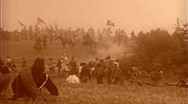Stock Video Footage of RAGING BATTLE American Civil War UNION LINES 1864 Vintage Film Movie