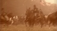 Stock Video Footage of UNION CAVALRY American Civil War HORSES Soldiers Troops 1864 Vintage Film Movie