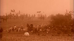 BULL RUN American Civil War Cavalry Charge BATTLEFIELD 1864 Vintage Film Movie - stock footage