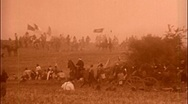 Stock Video Footage of BULL RUN American Civil War Cavalry Charge BATTLEFIELD 1864 Vintage Film Movie