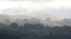 Fog Fantasy Landscape Stock Footage