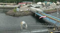 Ketchikan ferry gangway Stock Footage