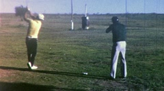 Golf and Skeet Shooting Combined! Circa 1965 (Vintage Film 8mm Home Movie) 318 Stock Footage
