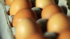 Tilt to fresh eggs Stock Footage