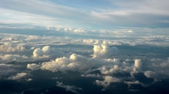 Beautiful evening aerial view of the cloudscape Stock Footage