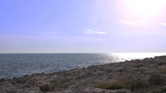 Rocky coast in Istria - stock footage