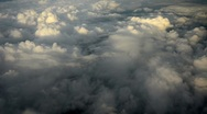 Stock Video Footage of Beautiful evening aerial view of the cloudscape