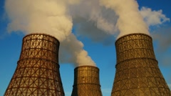 Coal-burning power plant Stock Footage