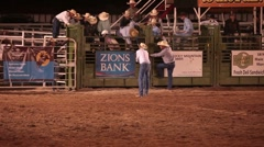 Bull rider in danger rodeo P HD 9951 Stock Footage