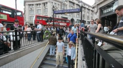 Oxford Circus Station in London Stock Footage