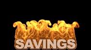 Db fire text 11 hd1080 savings Stock Footage