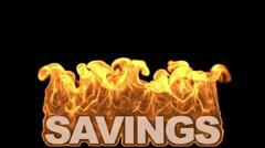 Db fire text 12 hd1080 savings Stock Footage
