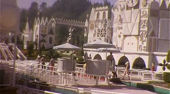 People at Disneyland Theme Amusement Park 1960 s Vintage Film Home Movie  Stock Footage