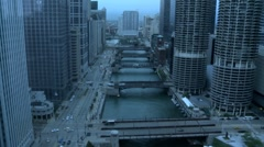 Rain Storm blowing into Chicago - stock footage