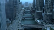 Rain Storm blowing into Chicago Stock Footage