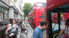 London Busstop - stock footage