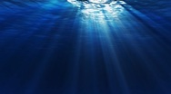 Under Water Dark Loop Stock Footage