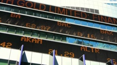 Stock Market Ticker - stock footage