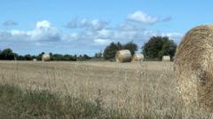 Hay Bale Harvest Stock Footage