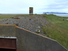 Abandoned Bunkers at Argentia US Naval Base, Newfoundland Stock Footage
