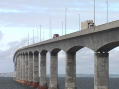 Confederation Bridge 2- PEI to New Brunswick, Canada Stock Footage