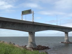 Confederation Bridge 4- PEI to New Brunswick, Canada Stock Footage
