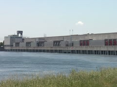 Massive Hydro-electric Dam 2- St Lawrence Seaway - stock footage
