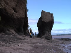 Hopewell Rocks-Highest Tides on Earth, Nova Scotia 4 Stock Footage
