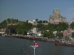 Timelapse of Ferry Ride from Quebec City to Levis Stock Footage