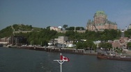 Stock Video Footage of Timelapse of Ferry Ride from Quebec City to Levis