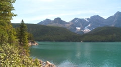 Locations, Upper Kananaskis Lake Alberta, pan Stock Footage