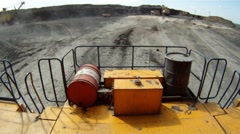 Mining dump truck 069 Stock Footage