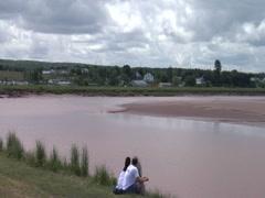 Tidal Bore Part 1, Bay of Fundy- Nova Scotia, Canada Stock Footage