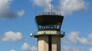 Stock Video Footage of Airport control tower
