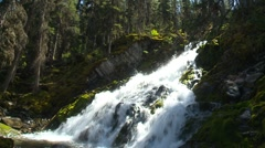 Waterfall, Sarrail Creek falls Stock Footage