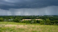 Thunderstorm cloud over bochum time lapse Stock Footage