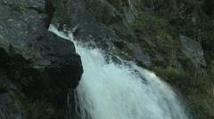 Waterfall Top CU Stock Footage