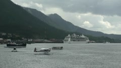 Ketchikan, inside passage Stock Footage