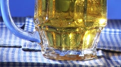 Beer in a tankard Stock Footage