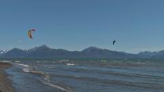 Kite Surfers 1 Stock Footage