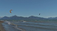 Stock Video Footage of Kite Surfers 1