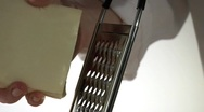 Stock Video Footage of Grating mozzarella