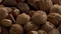 Assorted nuts Stock Footage
