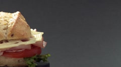 A sandwich Stock Footage