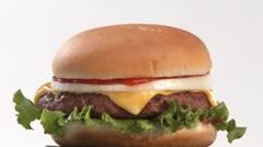 A rotating cheeseburger Stock Footage